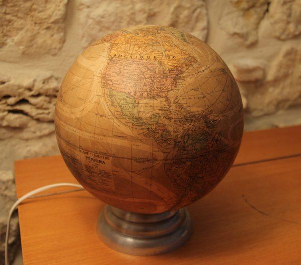 VENDU Globe terrestre verre Perrina