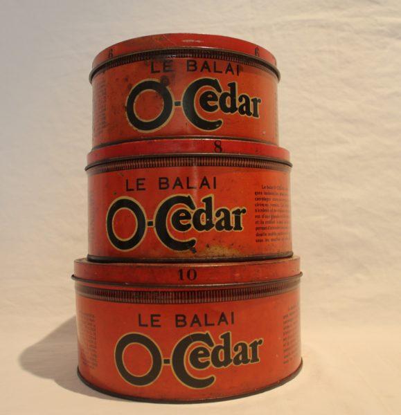 Lot de boites O-Cedar 60's
